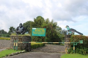 Main entrance to Volcanoes national park - Rwanda
