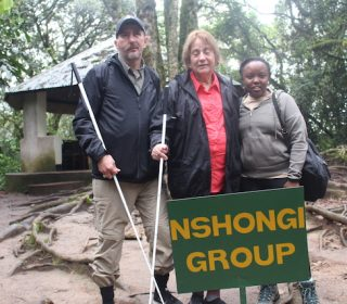 Blind couple goes gorilla trekking in Uganda's Bwindi Impenetrable National Park