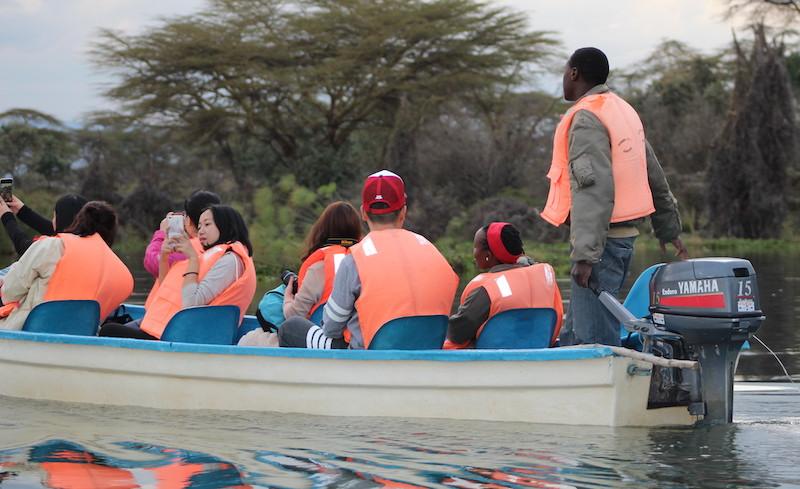 Boat ride on Lake Naivasha